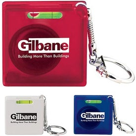 Square Tape Measure Level Keyholder with Your Slogan