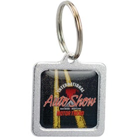 Square Budget Domed Key Tag for Your Organization