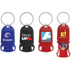 Squeezy Pillbox Keychain for Marketing