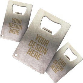 Personalized Stainless Credit Card Bottle Opener