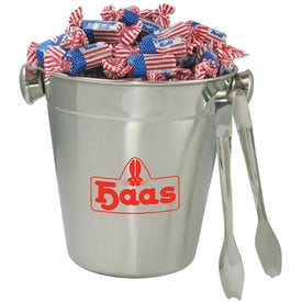 Stainless Ice Bucket with Tongs - Flag Toots