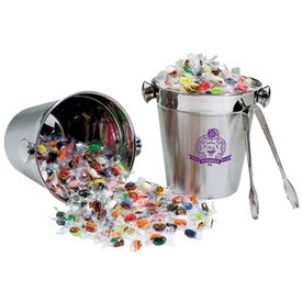 Stainless Ice Bucket with Tongs - Jelly Belly