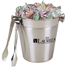 Stainless Ice Bucket with Tongs - Pinwheel