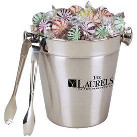 Stainless Ice Bucket with Tongs - Pinwheel