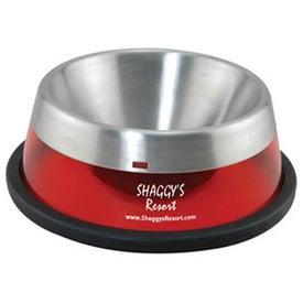Printed Stainless Steel Liner Pet Bowl