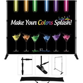 "Standard Adjustable Fabric Display (72"" x 8 Ft.)"