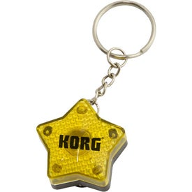 Star Flashing Light Key Tag Giveaways