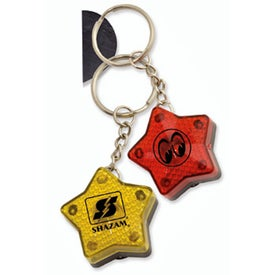 Star Flashing Light Key Tag