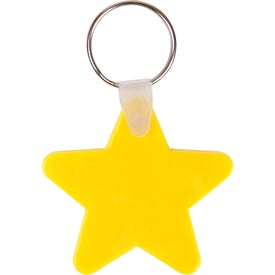Star Key Chain Branded with Your Logo