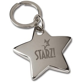 Nickel Star Key Tag