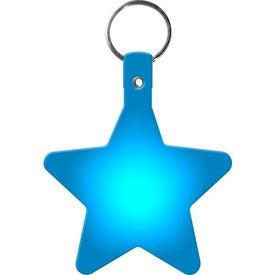 Printed Star Key Tag