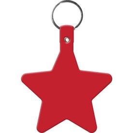 Monogrammed Star Key Tag