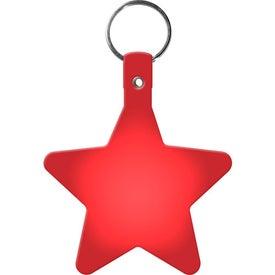 Branded Star Key Tag
