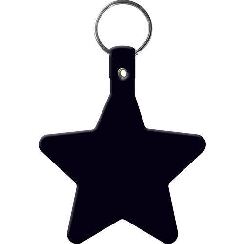Black Star Flexible Key Tag