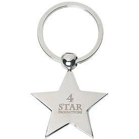 Star Metal Key Tag