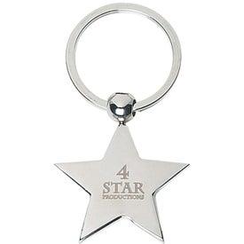 Star Metal Key Tag
