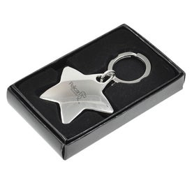 Star Metal Keychain for Your Company