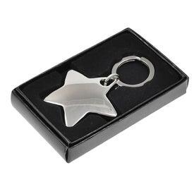 Star Metal Keychain with Your Logo