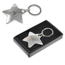 Star Metal Keychain