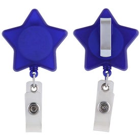 Star Retractable Badge Holder Branded with Your Logo