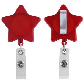 Personalized Star Retractable Badge Holder