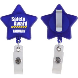 Logo Star Retractable Badge Holder
