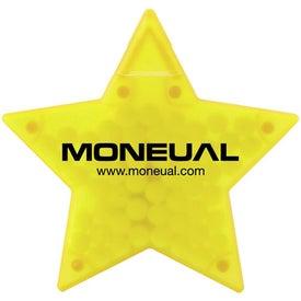 Imprinted Star Shaped Credit Card Mints