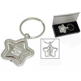 Star Spinner Keychain for Customization