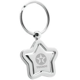 Imprinted Star Swivel Metal Keyholder