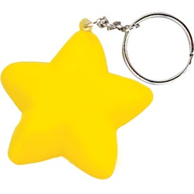 Star Key Chain Printed with Your Logo