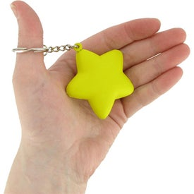 Star Key Chain Imprinted with Your Logo