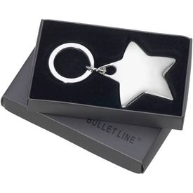 Logo 0Star-Shaped Sterling Silver Key Ring