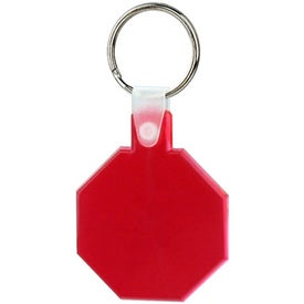Stop Sign Soft Key Tag Branded with Your Logo