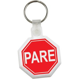 Stop Sign Soft Key Tag with Your Logo