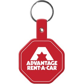 Stop Sign Flexible Key Tags