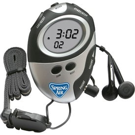 Stop Watch Radio With Lanyard for Promotion