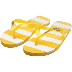 Imprinted Striped Adult Flip Flops