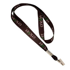 Sublimated Lanyard with Bulldog Clip
