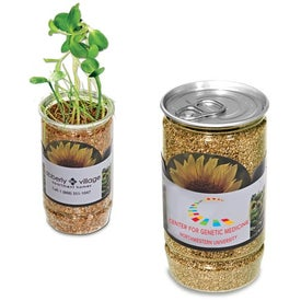 Sunflower-In-A-Can with Your Slogan