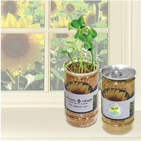 Sunflower-In-A-Can Branded with Your Logo