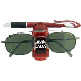 Sunglass Clip with Pen Holder Printed with Your Logo