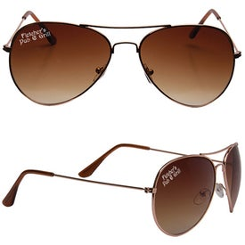 Branded Metal Frame Aviator Sunglasses