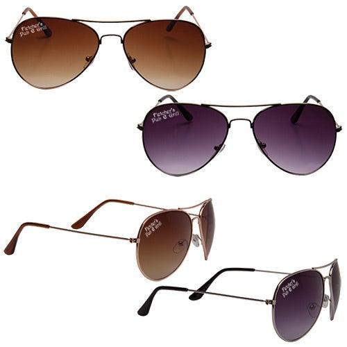 Promotional Metal Frame Aviator Sunglasses with Custom Logo for ...