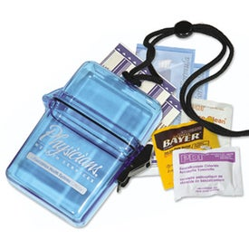 Sun Protection Outdoors Kit In A Plastic Container with Your Slogan