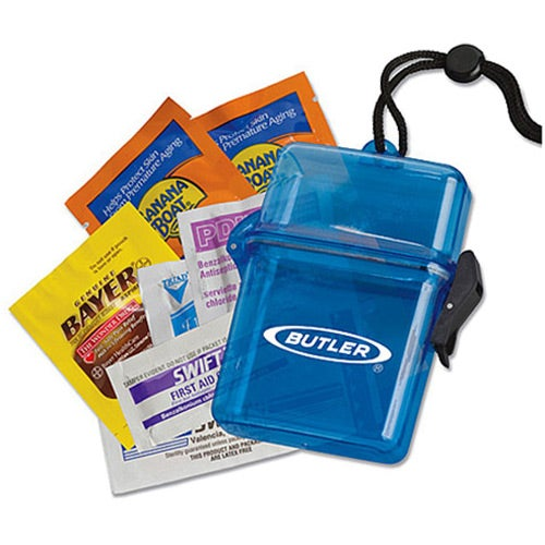 Sun Protection Outdoors Kit In A Plastic Container