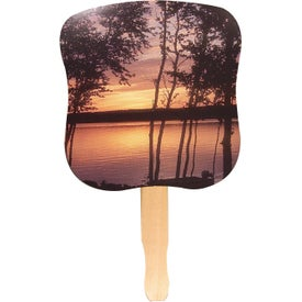 Printed Sunset Hand Fan