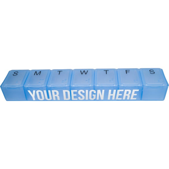 Crystal Blue Super-7 All-Week Pill Box