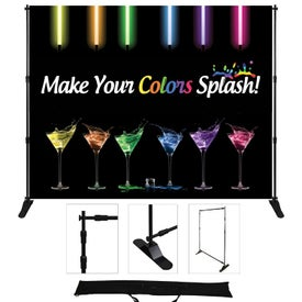 "Supreme Fabric Adjustable Display (72"" x 8 Ft.)"