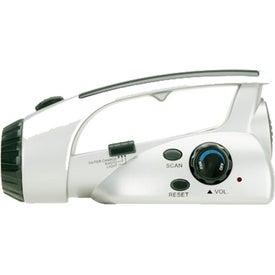 Branded Survival Flashlight and Scan Radio