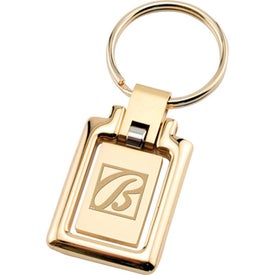 Swinging Two-Tone Gold Keytag